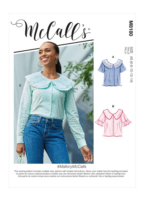 McCall's M8180 | #MalloryMcCalls - Misses' Tops