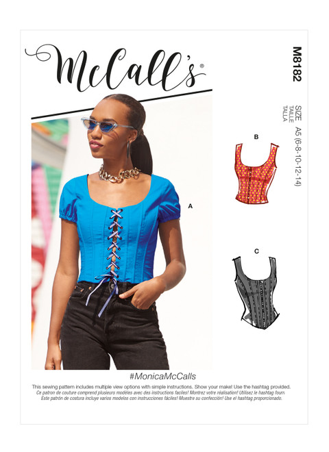McCall's M8182 | Misses' Tops