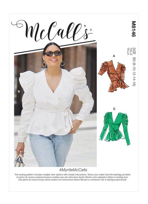 McCall's M8146 (Digital) | Misses' & Women's Tops