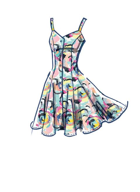McCall's M8177   #AshleyMcCalls - Misses' Dresses & Belt