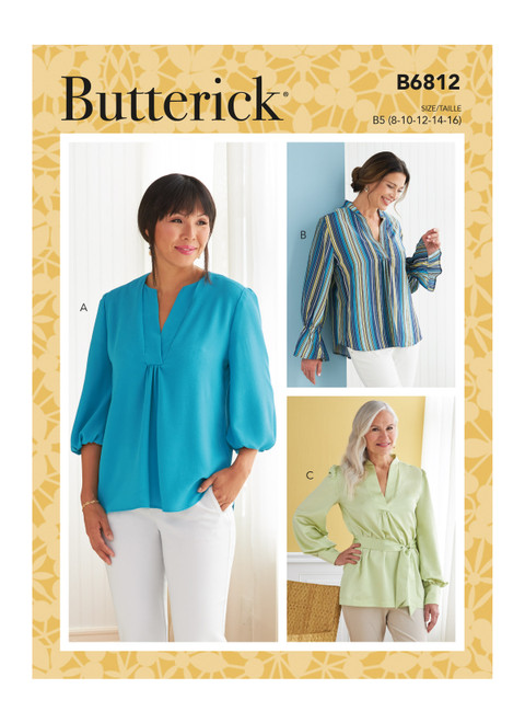 Butterick B6812 | Misses' Top, Tunic & Sash