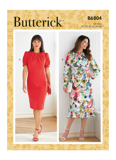 Butterick B6804 (Digital) | Misses' Dress with A/B, C, D Cup Sizes