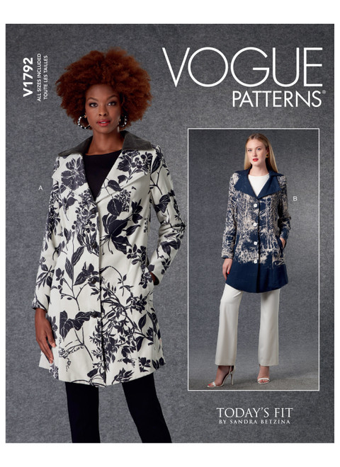 Vogue Patterns V1792 | Misses' Jackets