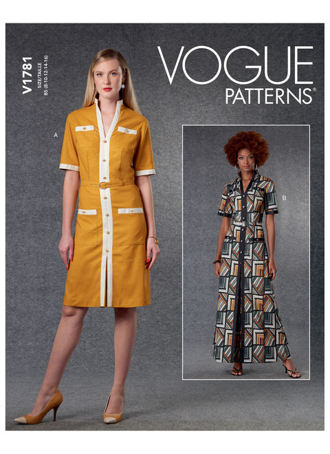 Vogue Patterns V1781 | Misses' Dresses & Belt
