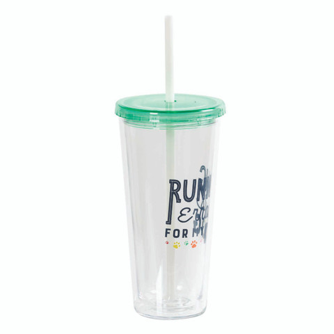 Insulated Tumbler with Straw - Running Errands for My Dog