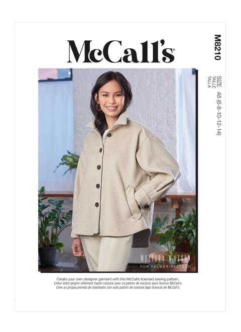 McCall's M8210 (Digital) | Misses' Jacket
