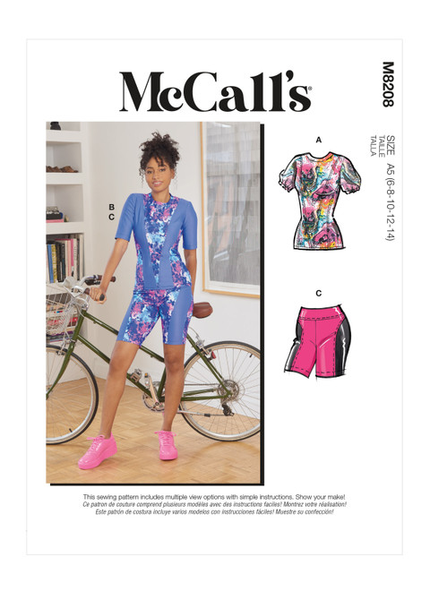 McCall's M8208   Misses' Tops & Shorts