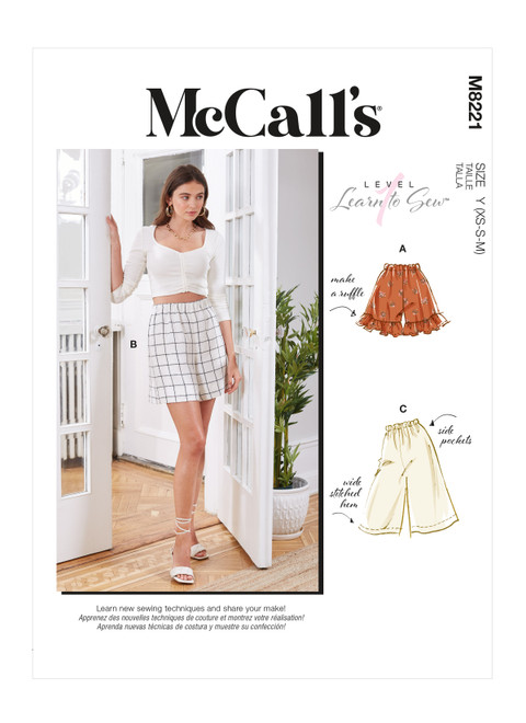 McCall's M8221 | Misses' Shorts