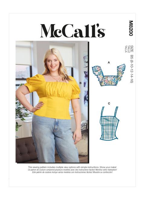 McCall's M8200 (Digital)   Misses' & Women's Tops