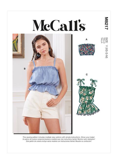 McCall's M8217 | Misses' Tops