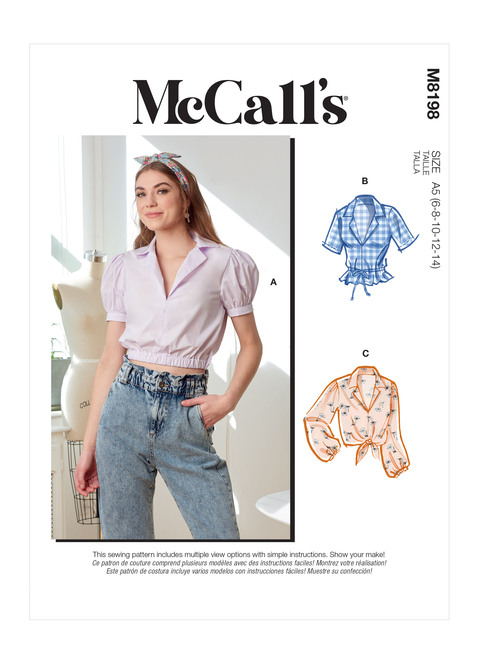McCall's M8198   Misses' Tops