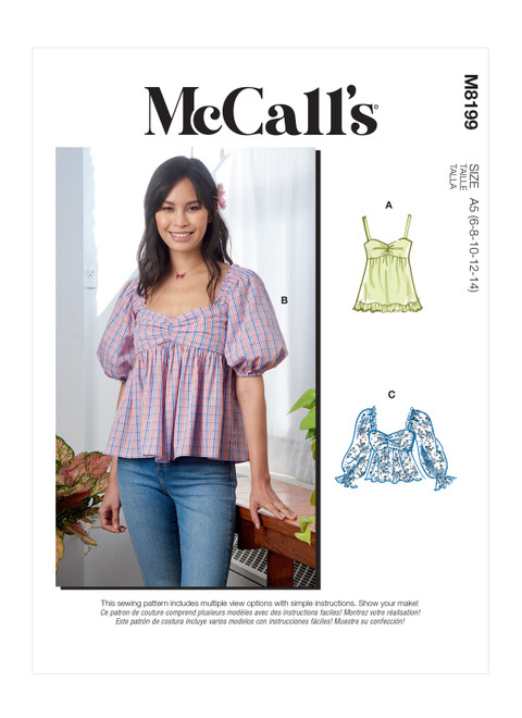 McCall's M8199 | Misses' Tops