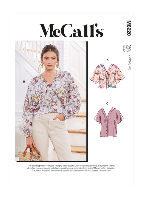 McCall's M8220 | Misses' Tops & Mask