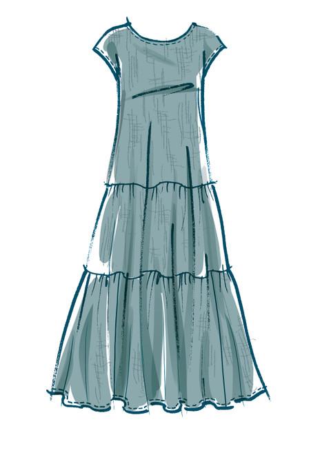 McCall's M8214 (Digital) | Misses' Dresses & Mask