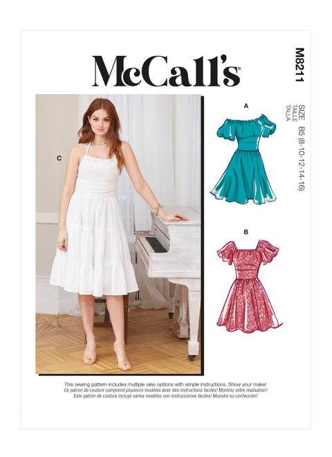 McCall's M8211 (Digital) | Misses' & Women's Dresses