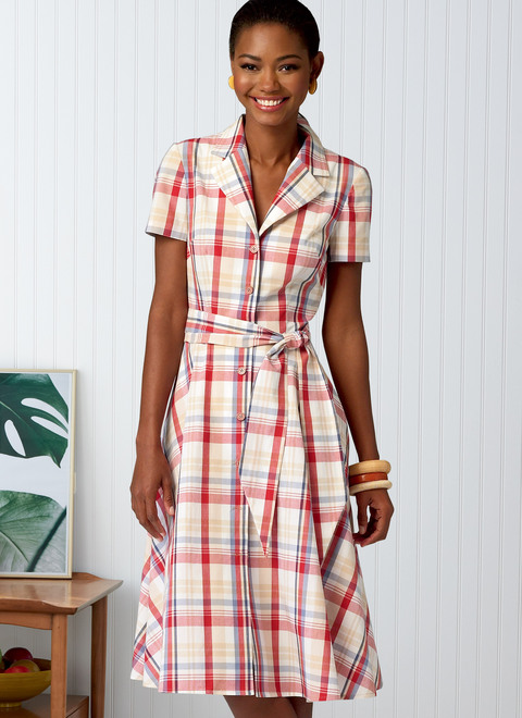 Butterick B6843 | Misses' Shirtdresses & Sash