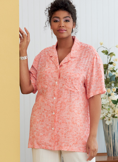 Butterick B6846 (Digital)   Unisex Button-Down Shirts