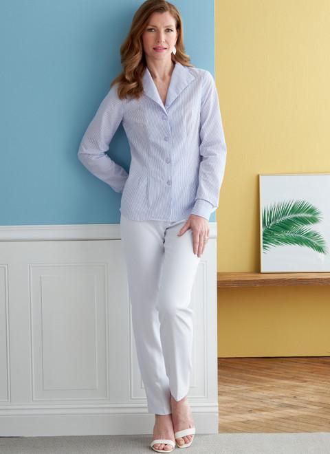 Butterick B6842   Misses' Fold-Back Collar Shirts
