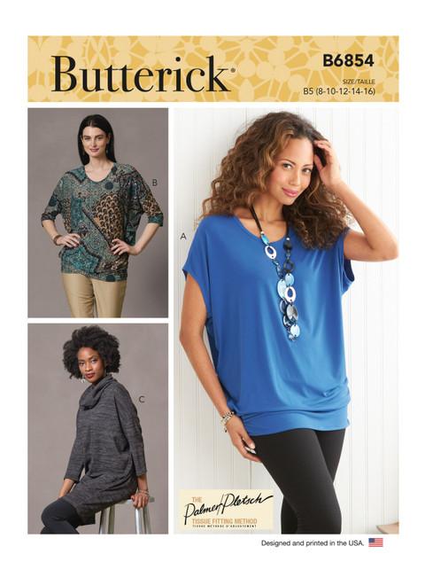 Butterick B6854 (Digital) | Misses' Tops & Tunic