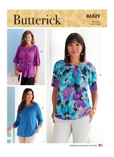Butterick B6829 | Misses' Tops & Sash