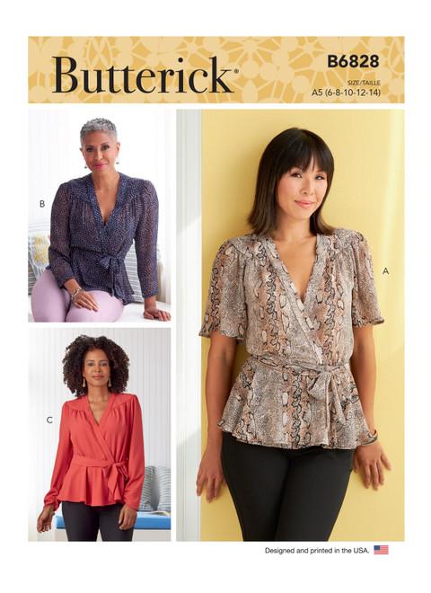 Butterick B6828 | Misses' Tops