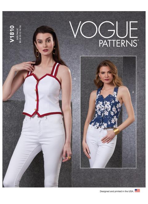 Vogue Patterns V1810 | Misses' & Misses' Petite Vests