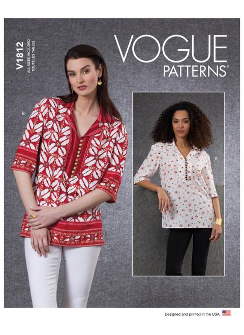 Vogue Patterns V1812 | Misses' Tunics