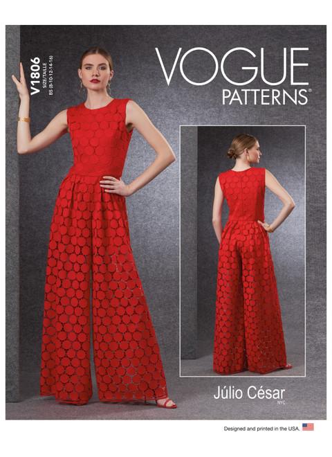 Vogue Patterns V1806 | Misses' & Misses' Petite Jumpsuit