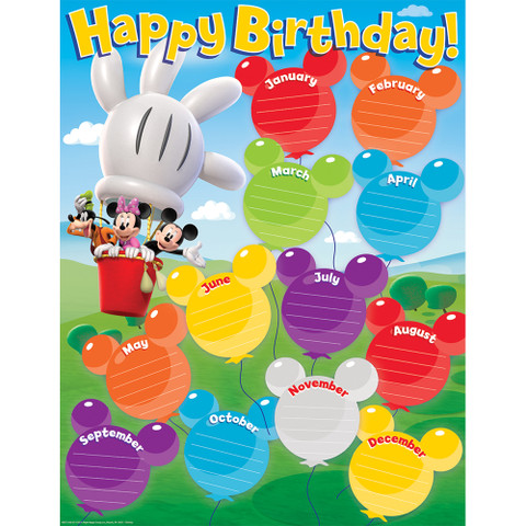 Mickey Mouse Clubhouse® Birthday Chart