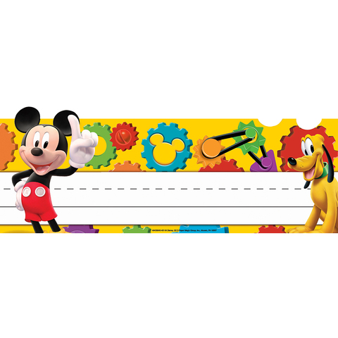 Mickey Mouse Clubhouse® Mickey Gears Tented Name Plates