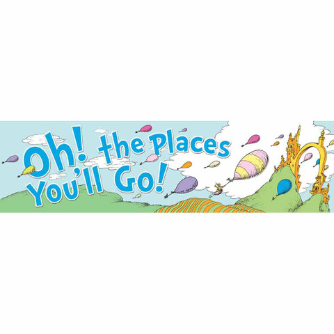 Dr. Seuss™ Oh the Places Balloons Classroom Banner