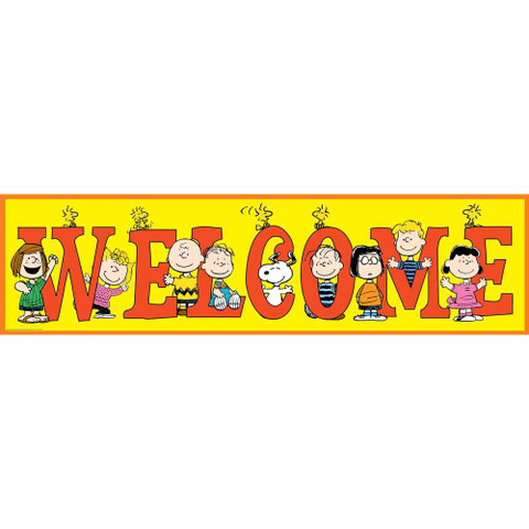 Peanuts® General Welcome Classroom Banner
