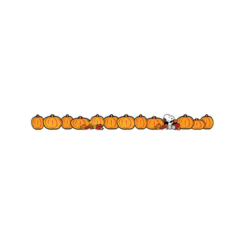 Peanuts® Fall Pumpkins Extra Wide Die Cut Deco Trim®