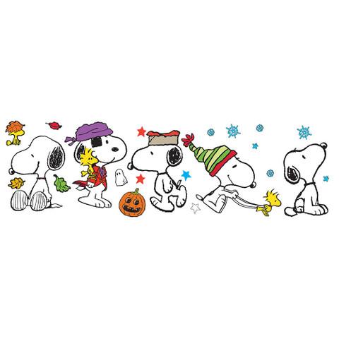 Snoopy Fall Winter Holiday Poses Bulletin Board Set