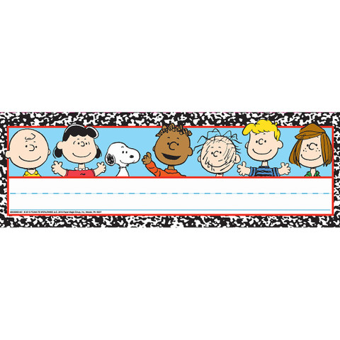 Peanuts® Composition Tented Name Plates