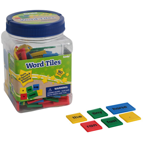 Tub of Word Tiles