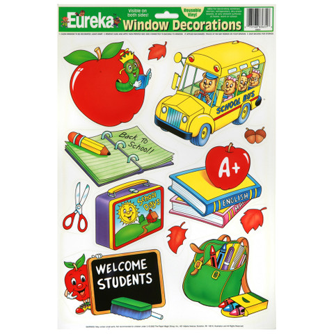 Welcome Students Window Clings