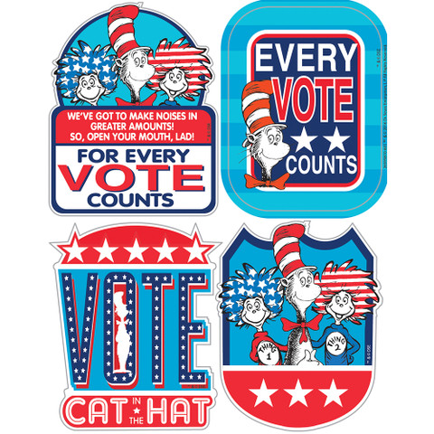 Cat in the Hat™ for President Sticker Badges