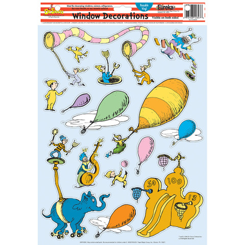 Dr. Seuss™ Oh The Places You'll Go Window Clings