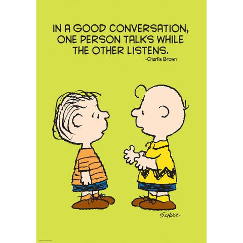"""Peanuts® Talk and Listen Poster 13""""x19"""""""