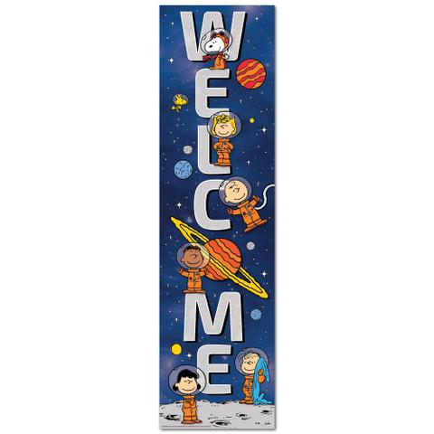 Peanuts® NASA Welcome Vertical Banner