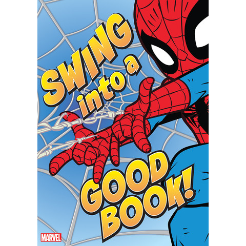 """Marvel™ Spider-Man Swing Into A Good Book Poster 13"""" x 19"""""""