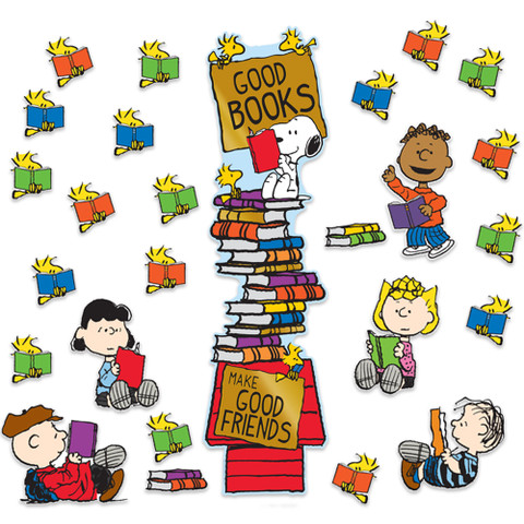 Peanuts® Reading All-In-One Door Decor Kit