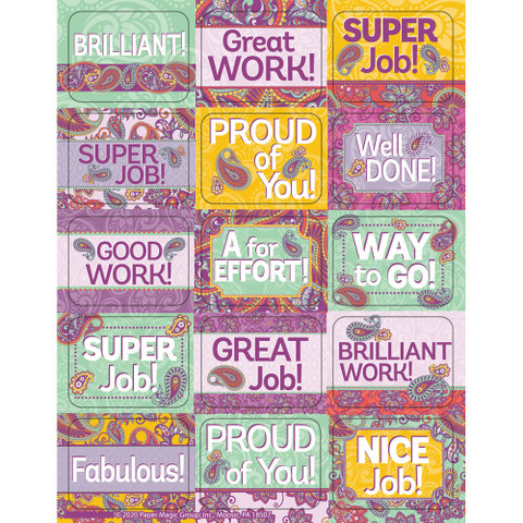 Positively Paisley Success Stickers