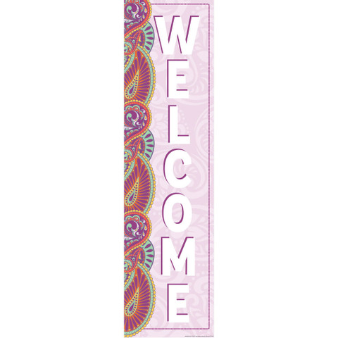 Positively Paisley Welcome Vertical Banner