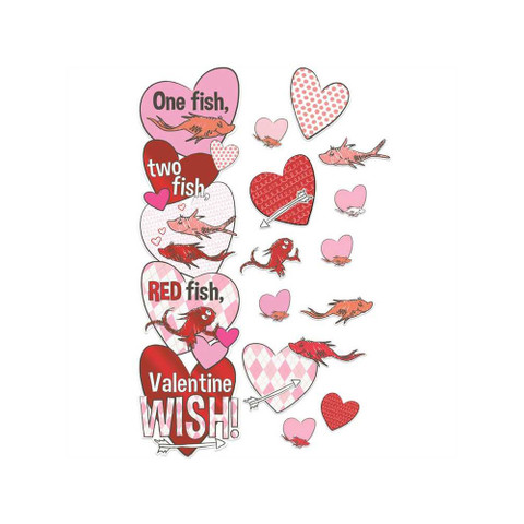 Dr. Seuss™ One Fish, Two Fish Valentine's Day Wish All-In-One Door Decor Kit