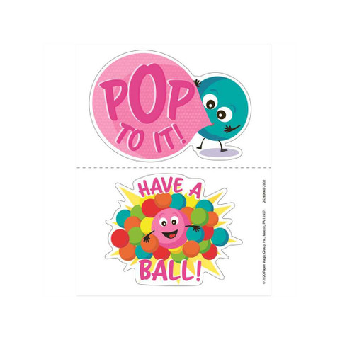 Jumbo Scented Stickers - Bubble Gum