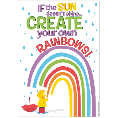 """Growth Mindset Create Your Own Rainbows Poster 13"""" x 19"""""""