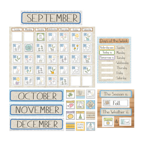 A Close-Knit Class Calendar Bulletin Board Set