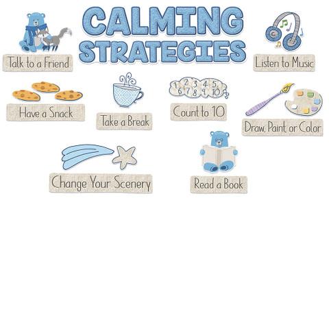 A Close-Knit Class Calming Strategies Mini Bulletin Board Set